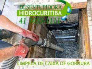LIMPEZA DE CAIXA DE GORDURA no Bacacheri